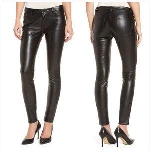 Blank NYC black faux leather skinny pants sz 28